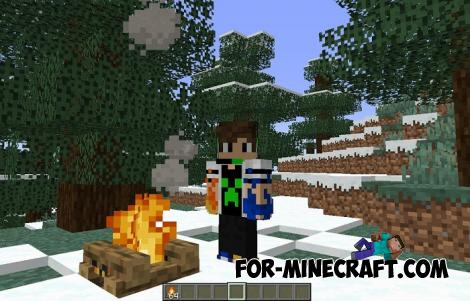 Campfire Addon for Minecraft PE 1.9