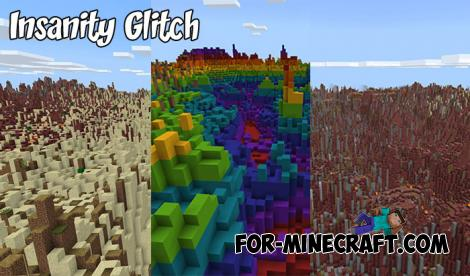 Insanity Glitch Map for MCPE 1.9