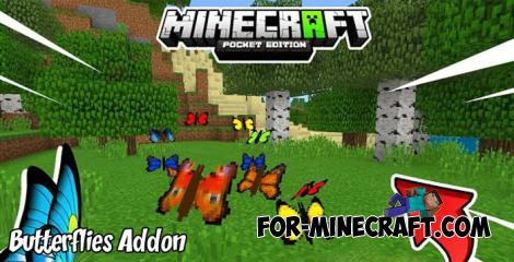 Butterflies Addon for MCPE 1.9