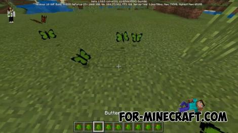 Butterflies Addon for MCPE