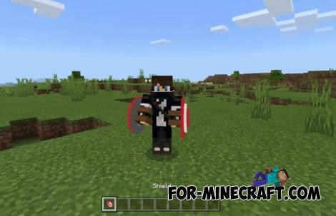 Captain America's Shield Addon for MCPE 1.10