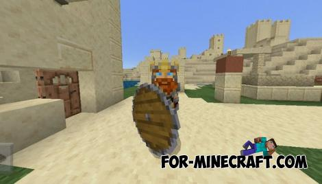 Viking Shield Addon for Minecraft PE 1.10.0.4+