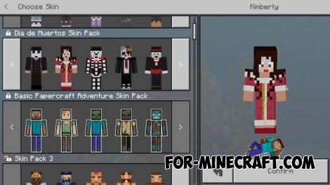 Day of the Dead Skin Pack for Minecraft PE