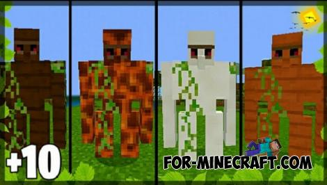 New Golems Addon for Minecraft PE 1.10