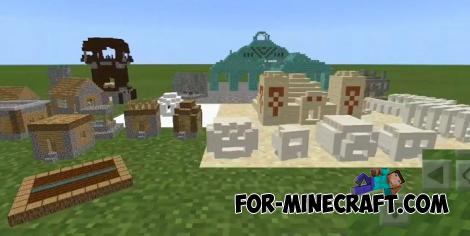 Tiny Structures Addon for Minecraft PE 1.10.0.4+