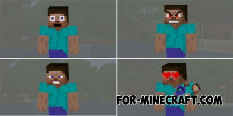 Facial Expression Skin Pack for Minecraft PE 1.11