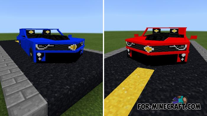 Chevy Camaro Addon (Color Update) for Minecraft PE