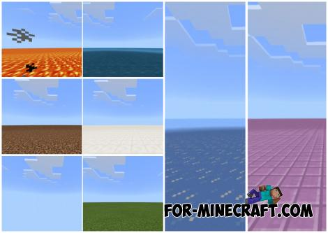 10 Flat Worlds Map for Minecraft PE