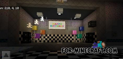 FNAF 2 Map for Minecraft PE 1.11.X