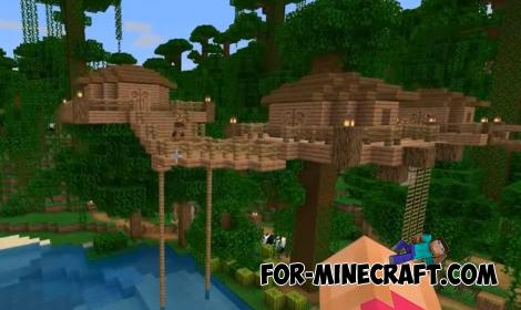 Jungle Village Map for Minecraft PE 1.11