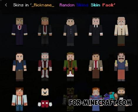 Random Skin Pack (160+) for Minecraft PE 1.12