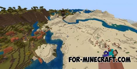 Villages and Outpost Seed for Minecraft PE 1.11