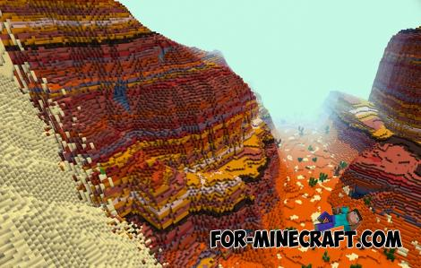 Colorful Dsert Map for Minecraft PE 1.11 & 1.12