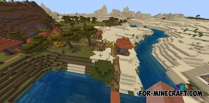 Woodland Mansion & Villages Seed for MCPE 1 12