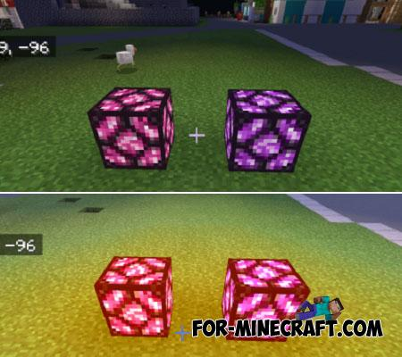Dyeable Redstone Lamps Addon for Minecraft PE 1.12