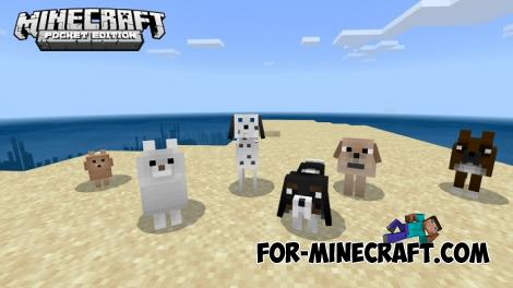 More Dogs Addon for Mnecraft PE 1.12.X