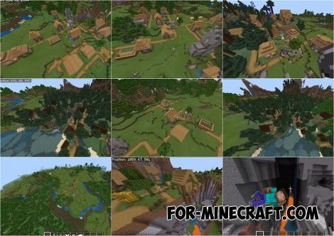 7 Villages Seed for Minecraft PE 1.12.0.3
