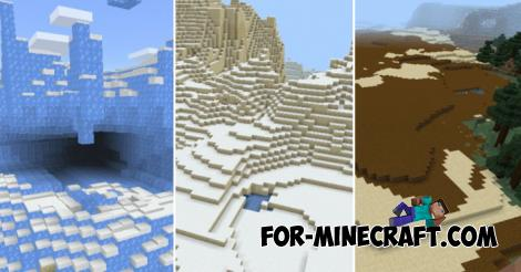 More Biomes Addon for Minecraft PE 1.12.0.6