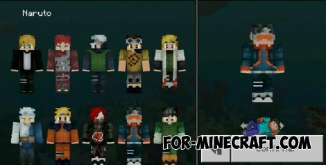 Naruto Skin Pack for Minecraft PE 1.12+
