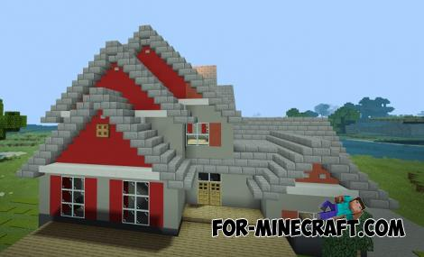 Suburban House for Minecraft PE 1.11 & 1.12
