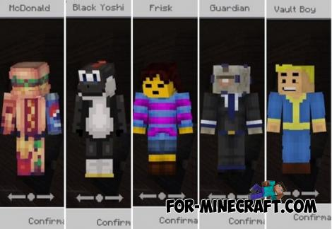 Casual Skin Pack for Minecraft PE 1.11 & 1.12