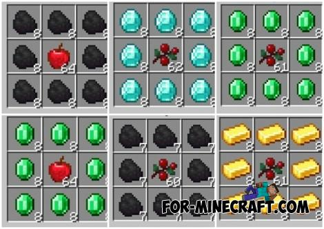 Craftable Food Addon for Minecraft PE 1.12