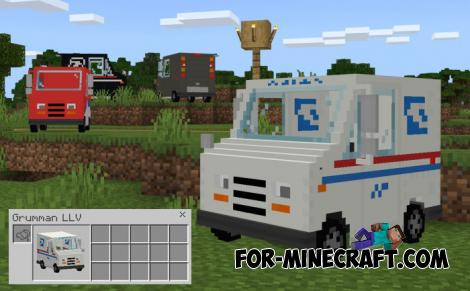 Mail Trucks Addon for Minecraft PE 1.12