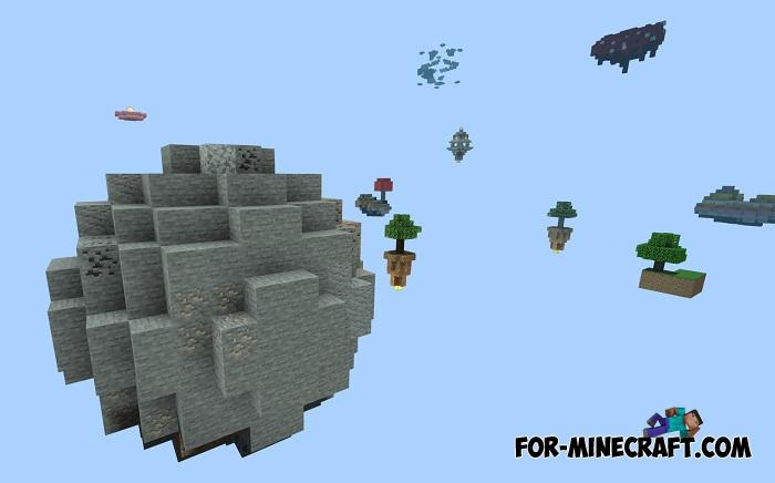 Extremal Skyblock Map for Minecraft PE 1 13