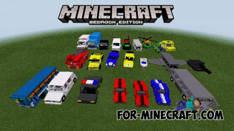 Simple Vehicles Addon for Minecraft PE 1.13