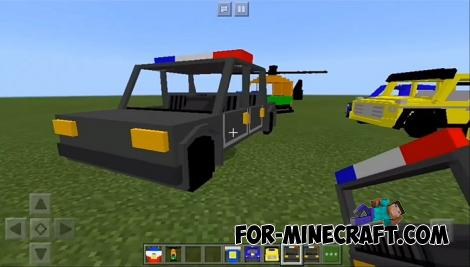 Simple Vehicles Addon for Minecraft PE 1.13+