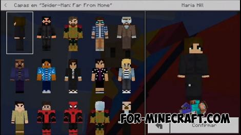 Spider Man Far From Home Skin Pack for Minecraft PE