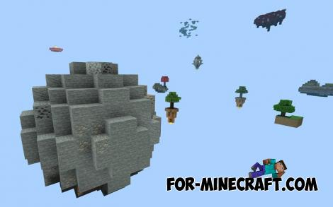 Extremal Skyblock Map for Minecraft PE 1.13