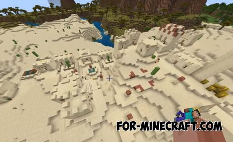 3 Villages & Ravine Seed for Minecraft PE 1.13