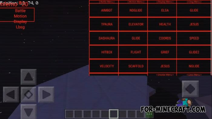 Inferno Hack for Minecraft PE 1 12