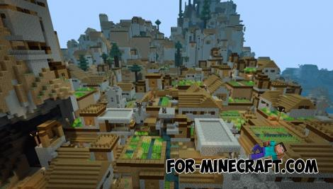 Infinite Villages Map for Minecraft PE 1.13