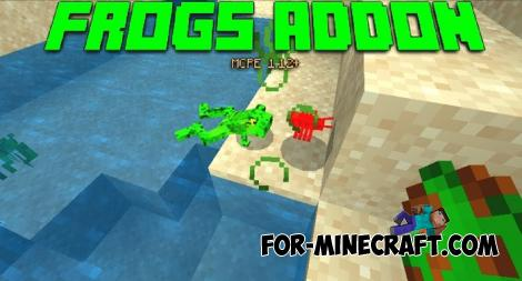 New Frogs Addon for Minecraft Bedrock 1.13