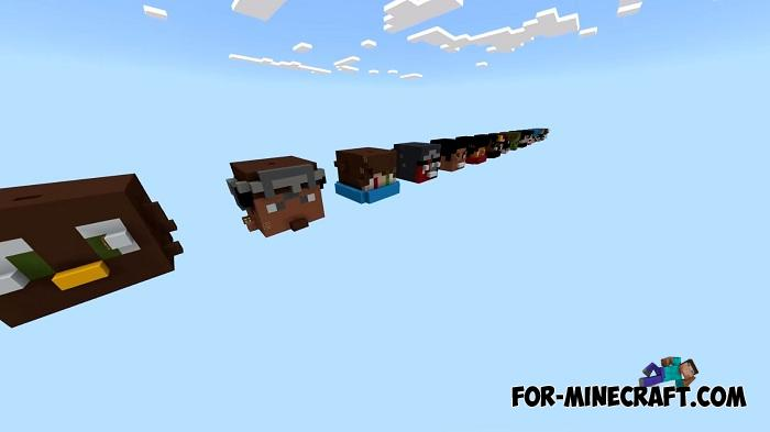 Heads Parkour Map for Minecraft PE 1 13 0 13+