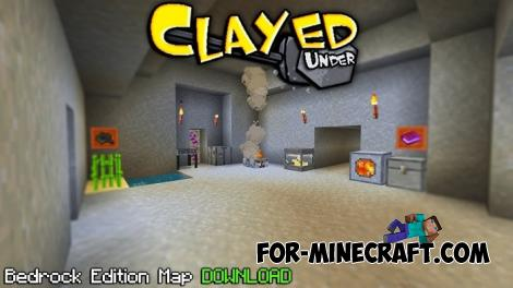 Clayed Under Map for Minecraft PE 1.13.0.9