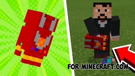 Infinity Gauntlets for Minecraft PE 1.12/1.13