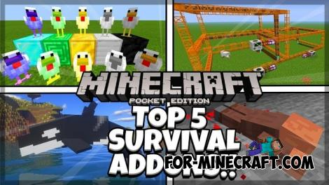 TOP 5 Addons Pack for Minecraft PE 1.12/1.13