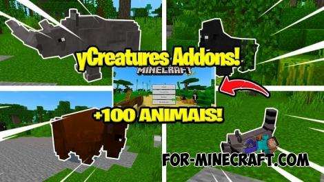 yCreatures Addon for Minecraft PE 1.12/1.13
