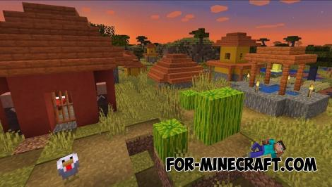 Snow Savanna Village Seed for Minecraft PE 1.13