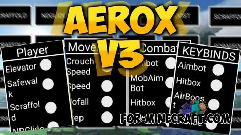 Aerox Hack for Minecraft PE 1.12.1 & 1.13