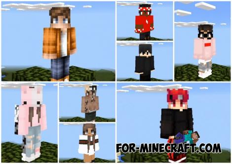 64x Skin Pack (100+ Skins) for Minecraft PE 1.12 & 1.13
