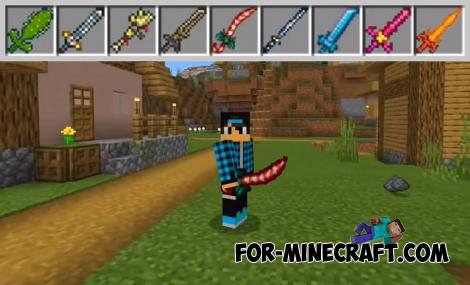 Terraria Swords Mod for Minecraft PE 1.13