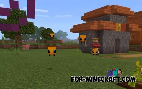 Java Bees Addon for Minecraft PE 1.13