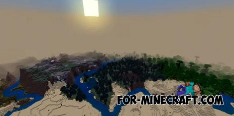 6 Biomes at Spawn Seed for Minecraft PE