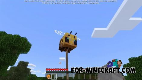 How to ride Bees Addon for MCPE 1.14.0.1