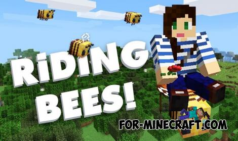 How to ride Bees Addon for MCPE 1.14.0.1+