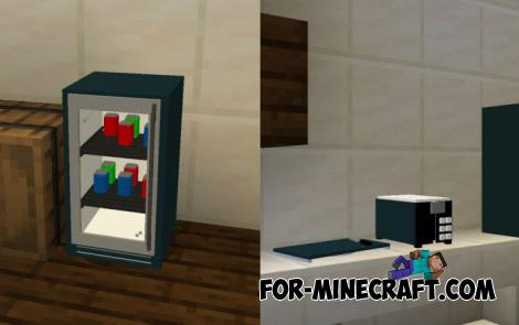 Modern Furniture Addon v6.0 for Minecraft PE 1.14